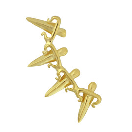 LeiVanKash Gold Dagger Ear Cuff
