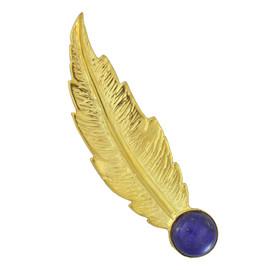 LeiVanKash Lapis Feather Ear Cuff
