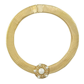 Ciner Pearl Crystal Collar Necklace