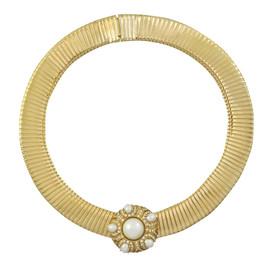 Ciner Pearl Crystal Collar Necklace