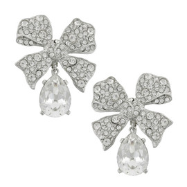 Kenneth Jay Lane Bow Drop Earrings