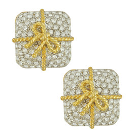 Kenneth Jay Lane Bow Wrapped Earrings