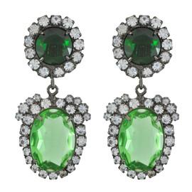 Kenneth Jay Lane Emerald Peridot Earrings