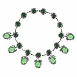 Kenneth Jay Lane Emerald Peridot Necklace