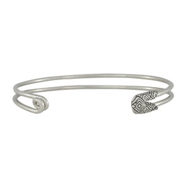 House of Harlow 1960 Silver Safety Pin Stack Bracelet