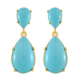 Kenneth Jay Lane Turquoise Drop Earrings