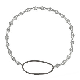Jennifer Behr Tiny Silver Scalloped Headwrap