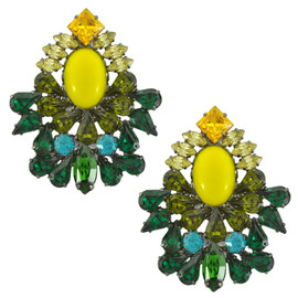 Dannijo Magnolia Yellow Emerald Earrings