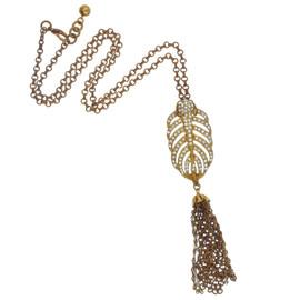 Lulu Frost Crystal Drift Tassel Necklace