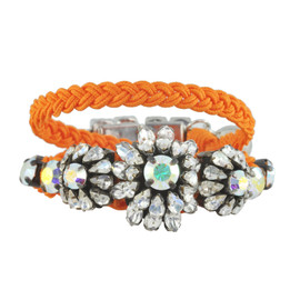 Shourouk Baraka Karma Neon Orange Bracelet