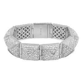 CC Skye Silver Pave Stud Bracelet