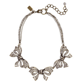 Badgley Mischka Three Bow Necklace