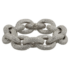 Zirconmania Gunmetal Pave Link Bracelet