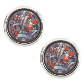 Vintage Hermes Large Button Earrings
