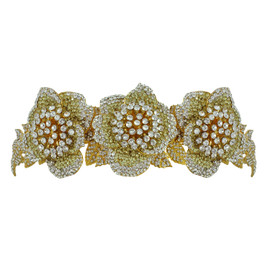 Siman Tu Gold Three Flower Tiara
