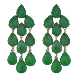 Siman Tu Green Aventurine Drop Earrings
