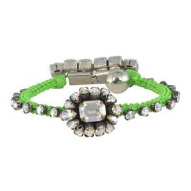 Shourouk Neon Green Baraka Atila Bracelet