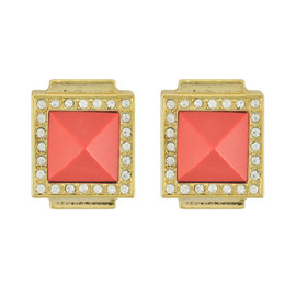 Sequin Erte Coral Earrings
