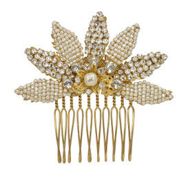 Miriam Haskell Pearl and Crystal Comb