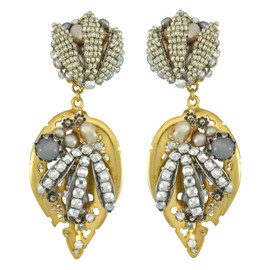 Miriam Haskell Leaf Drop Earrings