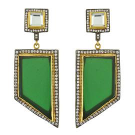 Meghna Designs Capri Emerald Earrings