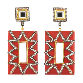 Meghna Designs Audrey Coral Earrings