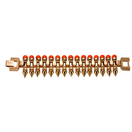 Mawi Neon Orange Pearl Spike Bracelet