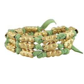 Lulu Frost Bells Beach Wrap Bracelet Green