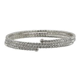 Lisa Freede Thin Silver Triple Crystal Wrap