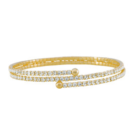 Lisa Freede Thin Gold Double Crystal Wrap