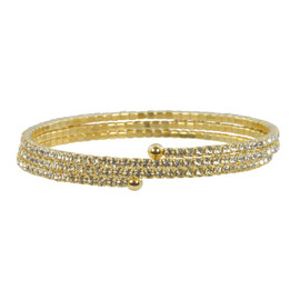 Lisa Freede Gold Triple Crystal Wrap
