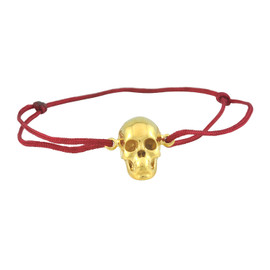 LeiVanKash Skull Bracelet Red