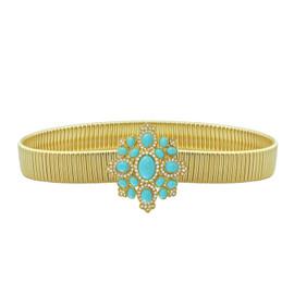 Kenneth Jay Lane Turquoise Crystal Belt