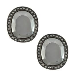 Kenneth Jay Lane Large Mirror Earrings