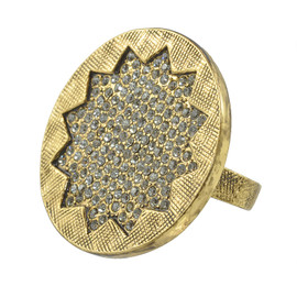 House of Harlow 1960 Smoked Pave Sunburst Ring