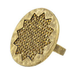 House of Harlow 1960 Gold Pave Sunburst Ring