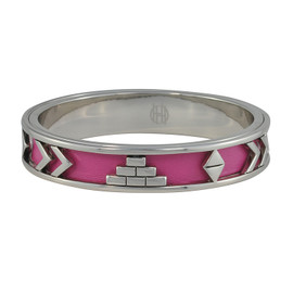 House of Harlow 1960 Aztec Fuchsia Leather Bangle