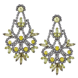 Elizabeth Cole Light Yellow Indira Earrings