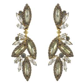 Elizabeth Cole Antique Navette Cluster Earrings