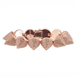 Eddie Borgo Rose Gold Pave Cone Bracelet