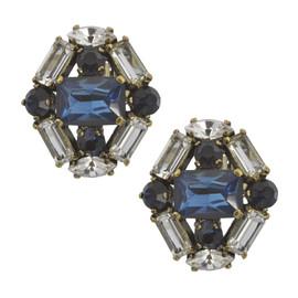 Badgley Mischka Lucretia Sapphire Earrings