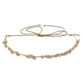 Jennifer Behr Eloise Circlet Gold Crystal Headpiece