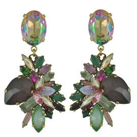 Erickson Beamon Cosmic Code Crystal Drop Earrings