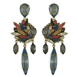 Erickson Beamon Happily Ever After Crystal Drop Earrings