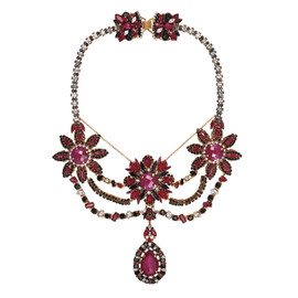 Erickson Beamon Queen Bee Fuchsia Necklace