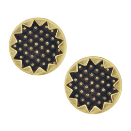House of Harlow 1960 Black Starburst Button Earrings