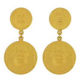 Vintage Christian Dior Anniversary Coin Earrings