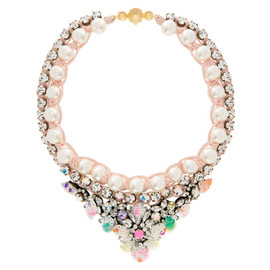 Shourouk Theresa Crystal Sequin Pearl Necklace