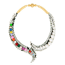 Shourouk Multi Neon Piuma Necklace