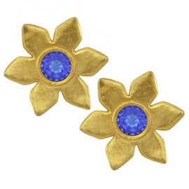 Vintage Yves Saint Laurent Rive Gauchè Flower Earrings